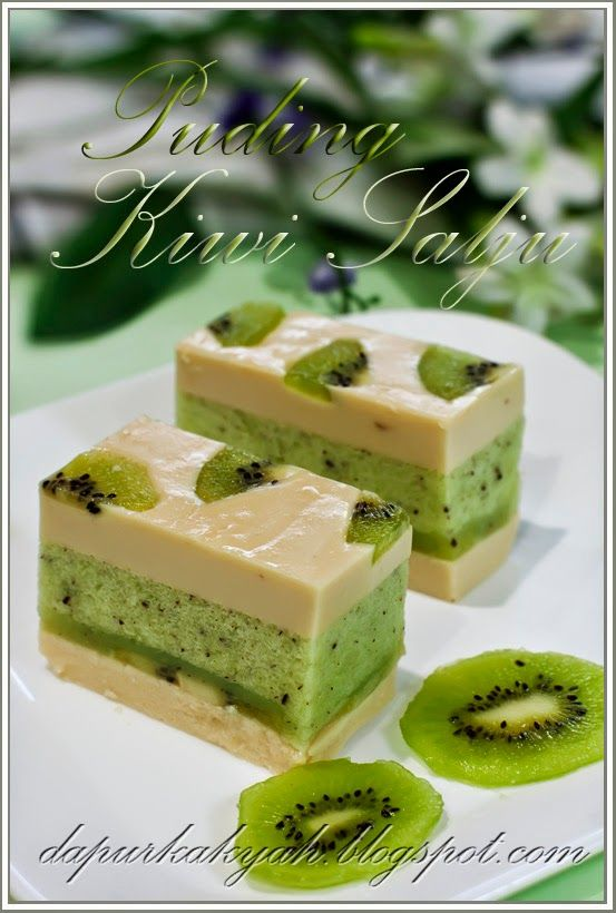 Dari Dapur Kak Yah: Puding Kiwi Salju