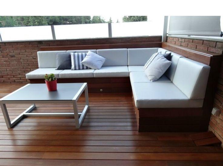 Tarima exterior de madera natural casa pinterest - Suelo terraza madera ...