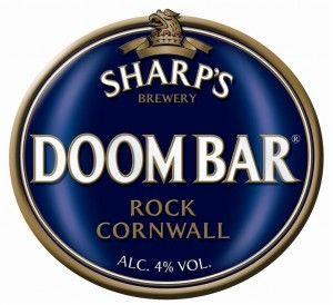 DOOM BAR   Sharp's Brewery   Rock, Cornwall: 'Sharp's Brewery was founded in 1994. Its multi-award winning flagship brand Doom Bar is the No. 1 Cask Beer in the UK. It's distinctive aroma and balanced flavour set it apart from other beers.'     ✫ღ⊰n