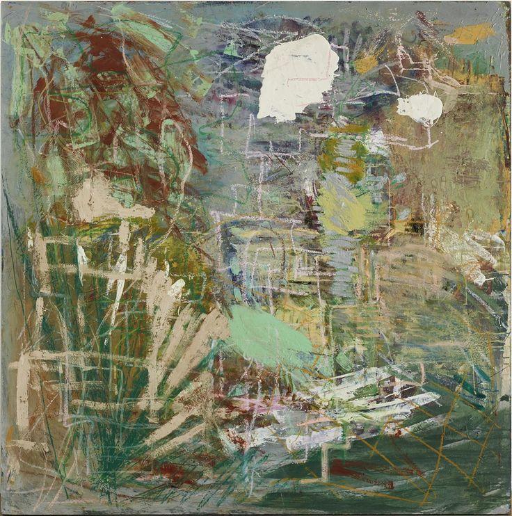 Per Kirkeby, Slanger i tørt græs og ruiner, 1967-1977, Mixed media on masonite 48 × 48 in, 122 × 122 cm