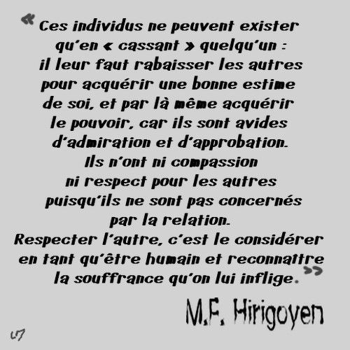 Pervers narcissique, MF Hirigoyen (1)