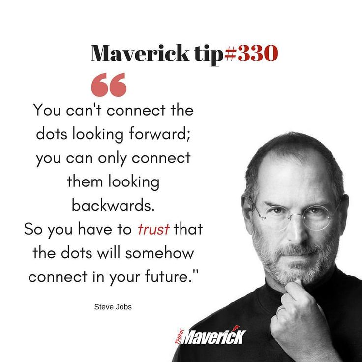 """35 Likes, 10 Comments - Think Like A Maverick (@thinkmaverick) on Instagram: """"This is another gem from #Stevejobs at the 2005 Stanford speech. ⠀⠀⠀⠀⠀⠀⠀⠀⠀⠀⠀⠀ The idea behind the…"""""""