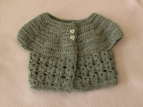 EASY crochet baby cardigan tutorial - how to crochet a baby cadigan / sweater / jumper / jacket - YouTube