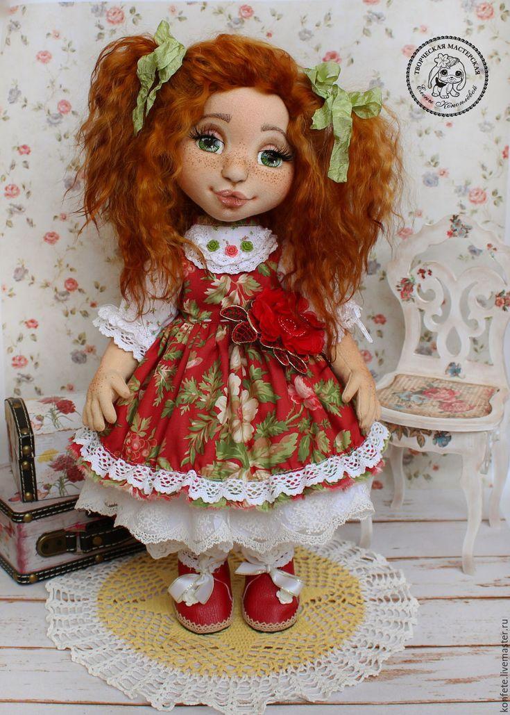 Купить Кукла Алиса текстильная интерьерная с объемным личиком - подарок девушке, подарок коллеге
