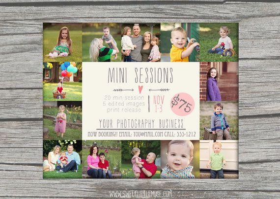 Mini Session Template - photography marketing template - fall mini session template - INSTANT DOWNLOAD