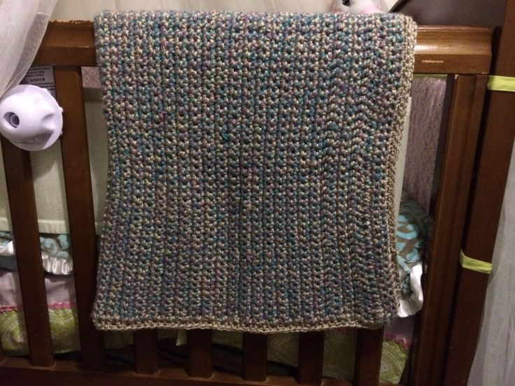 Really thick & chunky blanket. One of the first things I ever made