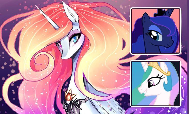 Luna & Celestia Fusion (MLP speedpaint)