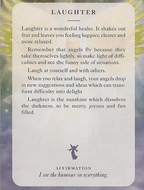 """Laughter"" – Angel Card – Diana Cooper"