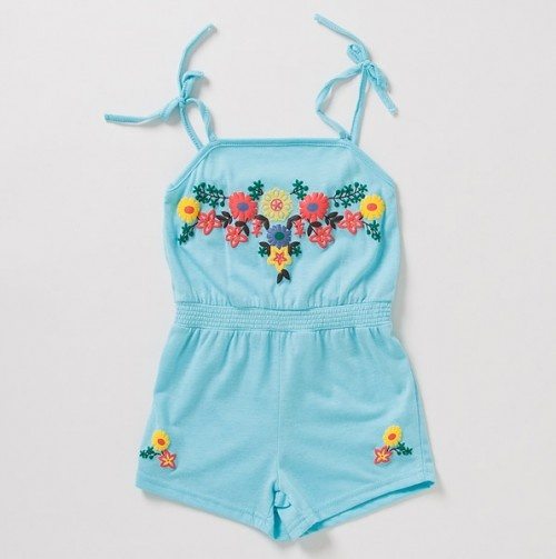 The cutest retro-inspired little girl rompers...this one's only $7.99!