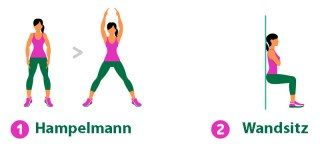 7-Minuten-Workout: Hampelmann & Wandsitz