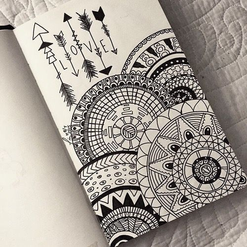 #Flecha #Love Image de drawing, love, and mandala                                                                                                                                                                                 Más