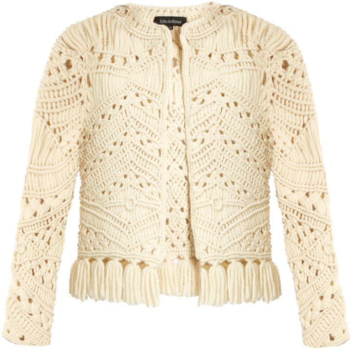 TABULA RASA Tuva hand-macramé tassel-trim jacket
