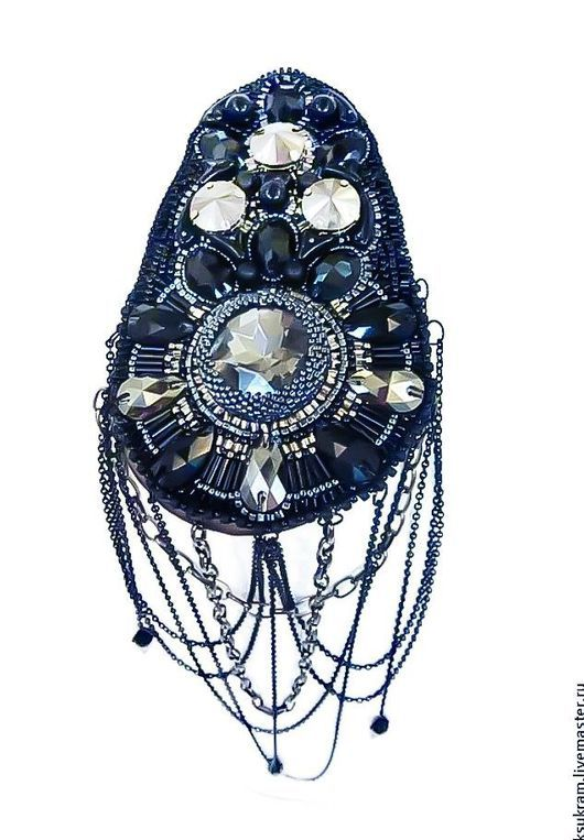Броши ручной работы. Эполет на одно плечо (работа на заказ). Jewelry by Oksana Shtakina (ksukram). Интернет-магазин Ярмарка Мастеров.