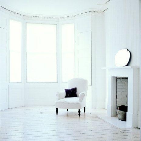 villa d'Esta | interieur en wonen: Witte geschilderde vloeren
