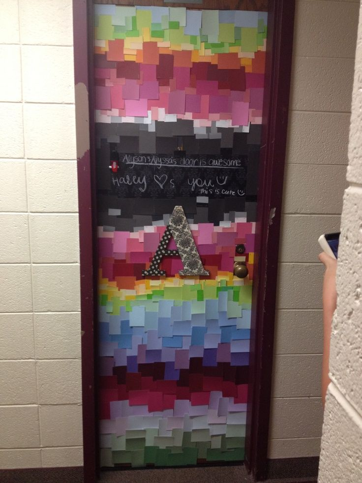 Totally Doing This With Lexi Paint Swatches To Decorate Dorm Door