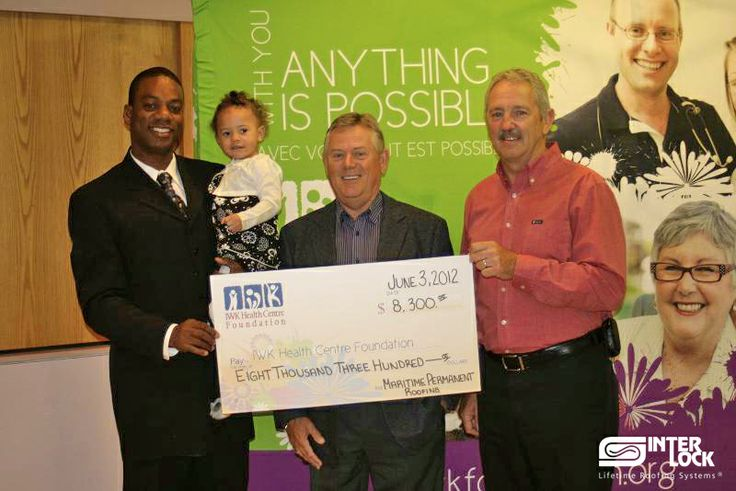 2012 - Maritime Permanent Roofing Ltd. makes a donation to the IWK Health Care Foundation.
