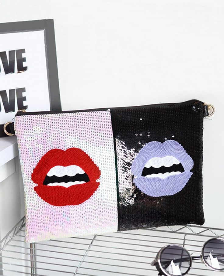 Bling Bling Sexy Lops Envelope Clutch Bag