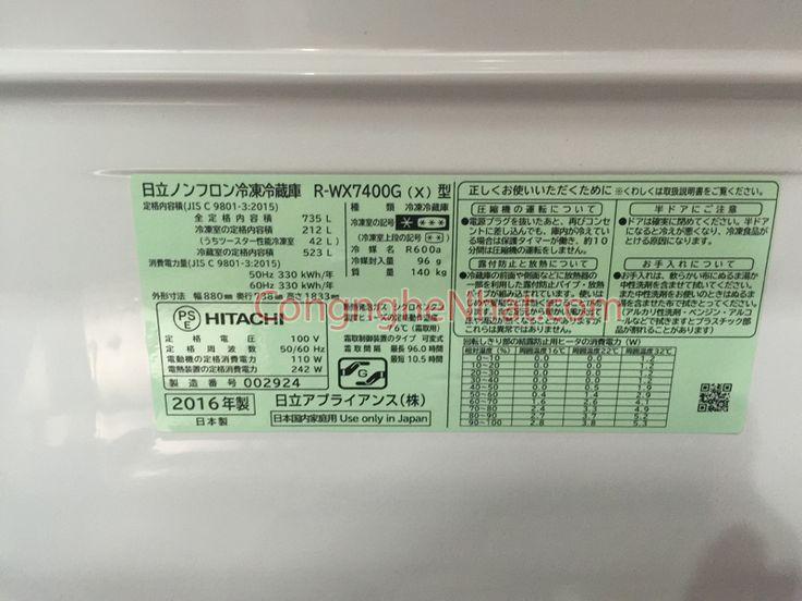 Hitachi R-WX7400G