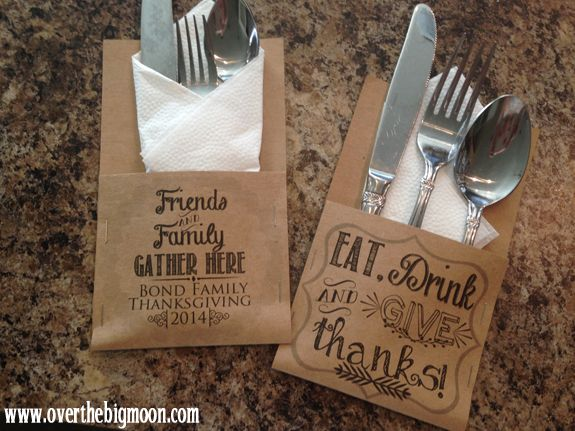 Thanksgiving Utensil Holders & Printables