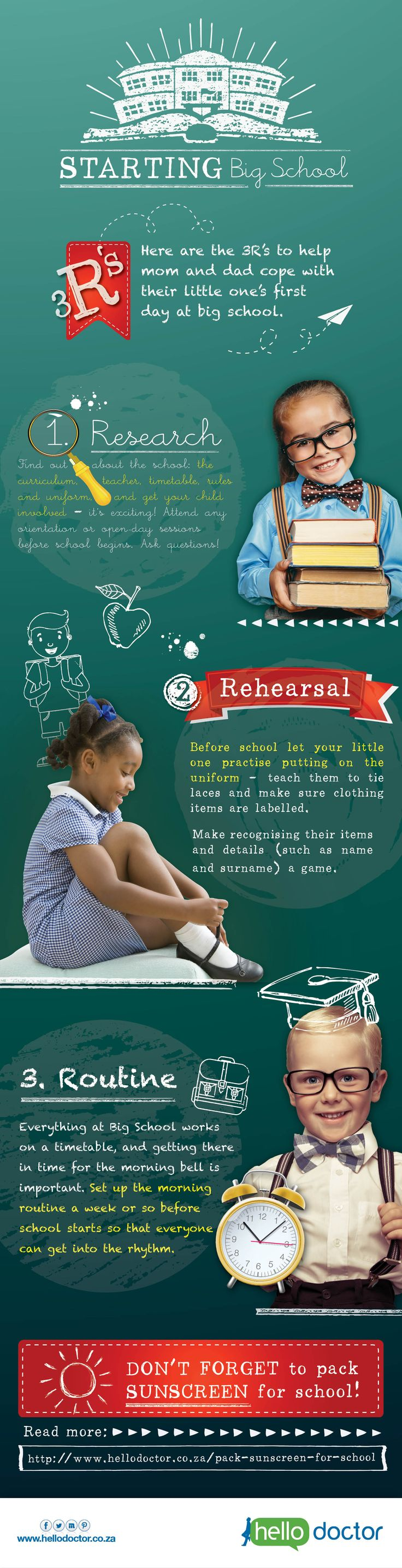 Is your child going to school for the first time this year? Here are a few things you should know.