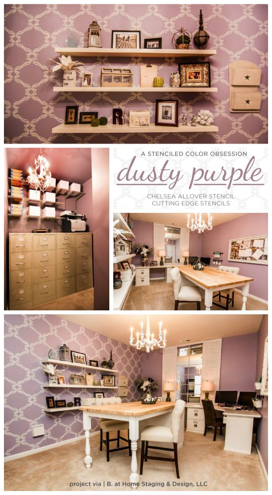 home office decor ideas.htm a stenciled color obsession dusty purple purple wallpaper  a stenciled color obsession dusty