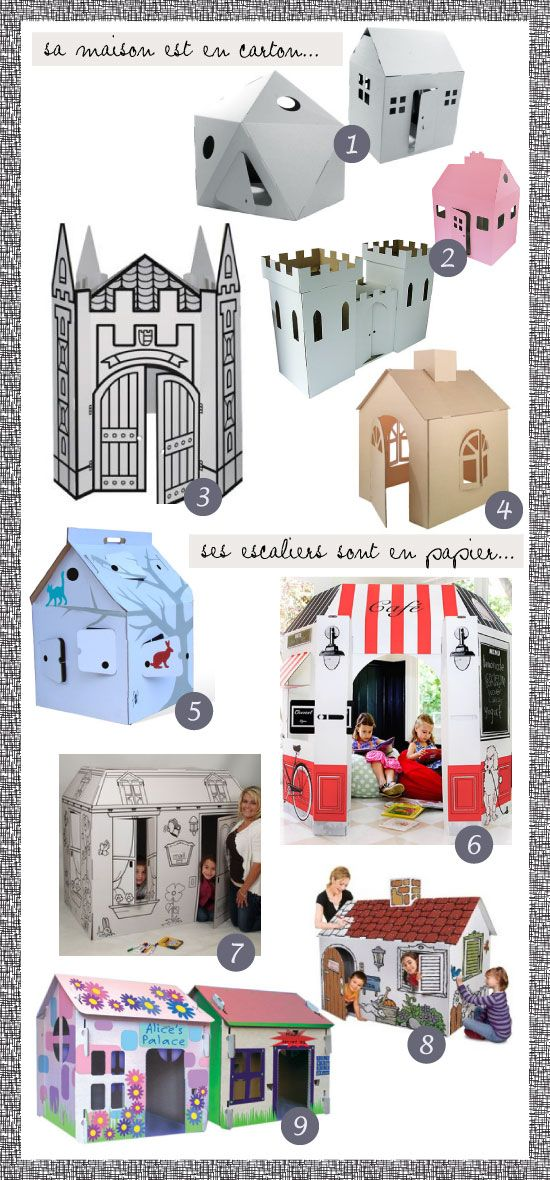 maison en carton, cardboard playhouse