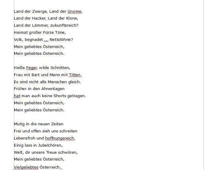 Die Bundeshymne der Republik Österreich im Volltext NEU