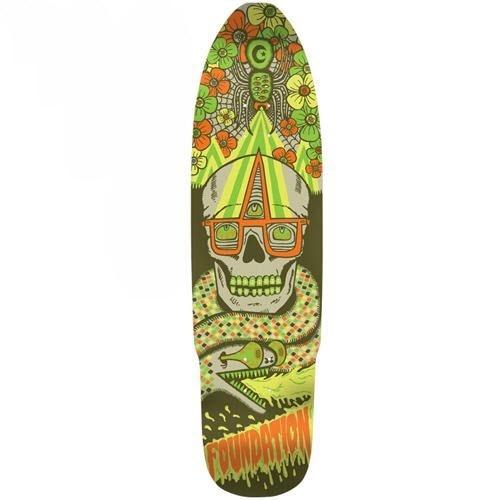 Foundation Skateboards   Foundation Snaker Snack Cruiser Deck   8.875x32.5