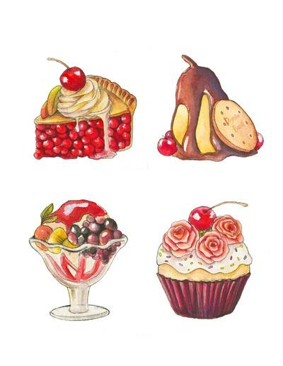 Fruit Desserts Art Print
