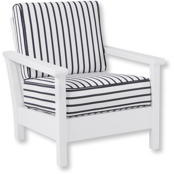 L L Bean All Weather Deep Seating Chair With Stripe