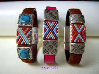 Leather & miyuki beads