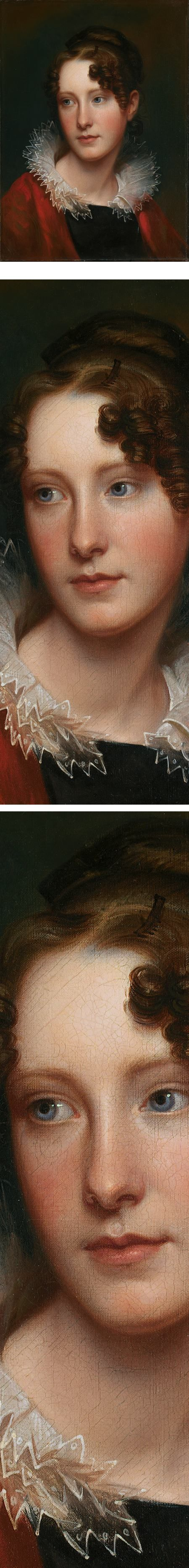 Eye Candy for today: Rembrandt Peale's portrait of his daughter, Rosalba