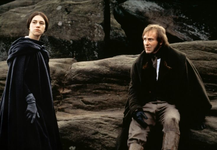 "Jane Eyre (Charlotte Gainsbourg) and Mr. Rochester (William Hurt) in ""Jane Eyre"" directed by Zeffirelli. Favorite version of jane eyre"