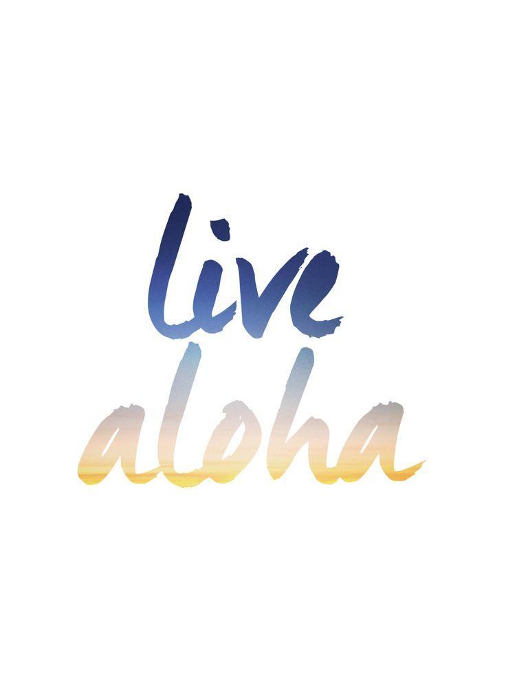 Aloha Print Live Aloha Typography Art Summer by MelindaWoodDesigns