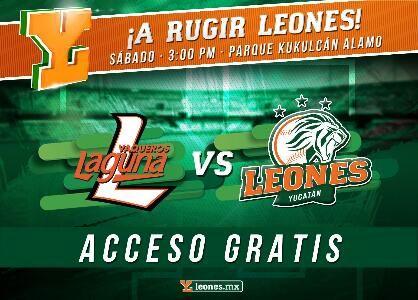 Mérida, Yuc. (www.leones.mx / Mario Serrano) 6 de octubre.- Los Vaqueros de Calkiní y Leones de Yucatán jugarán este sábado a las 3:00 pm en...