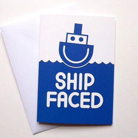Ship Faced Birthday card-  Funny Birthday Card by hello DODO, £2.50