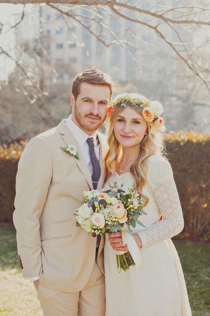 The dress garden utah - Real Utah Wedding Salt Lake City Temple Wedding Winter Wedding Ideas Cute Floral