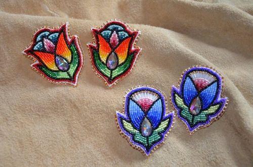 earrings, Oak Woman Designs (Potawatomi, Ojibwe)