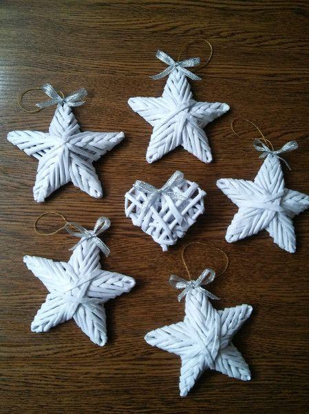 Gwiazdka zawieszka świąteczna na choinkę* - mili-design - Dekoracje: bombki