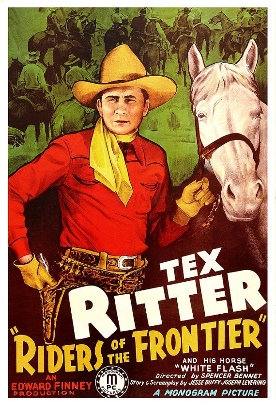 Hey, I found this really awesome Etsy listing at https://www.etsy.com/listing/125859133/tex-ritter-riders-of-the-frontier-home