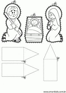 Kribbe knutselen met Jozef en Maria / RECURSOS DE EDUCACION INFANTIL
