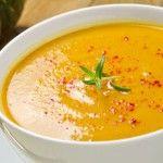 Receta de sopa de calabaza y jenjibre.