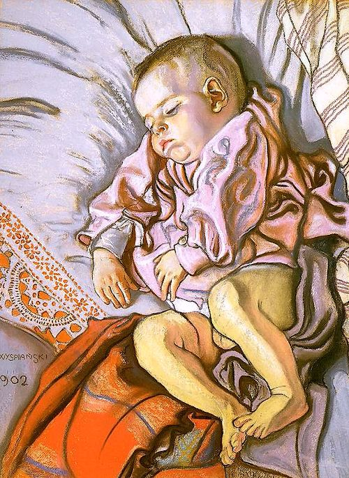 Sleeping Stas, The Artist's Son Stanislaw Wyspianski - 1902