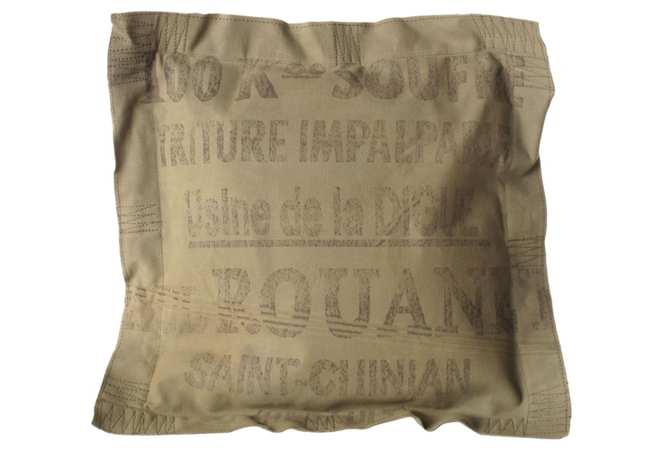 Vintage look pillow.  Very French!