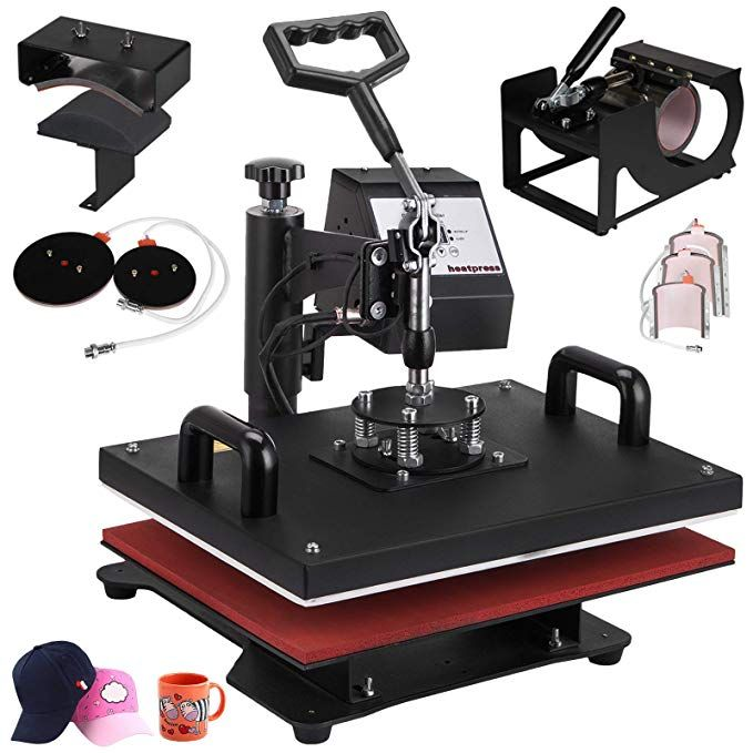 Vevor 12 X 15 Inch 8 In 1 Heat Press Digital Lcd Controller T Shirts Press Machine Swing Away Design Heat Best Heat Press Machine Heat Press Heat Press Machine