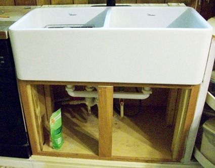 Installing A Farmhouse Sink : how to install a farmhouse sink