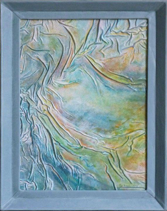 Original Abstract Landscape Painting Rainbow by AnnaKisArt on Etsy #abstract, #leatherpainting, #landscape, #leathergift, #greenpainting, #turquoisepainting, #christmasgift, #homedecor, #giftforhome, #rainbowpainting, #wallart, #weddinggift, #anniversarygift, #homedecor