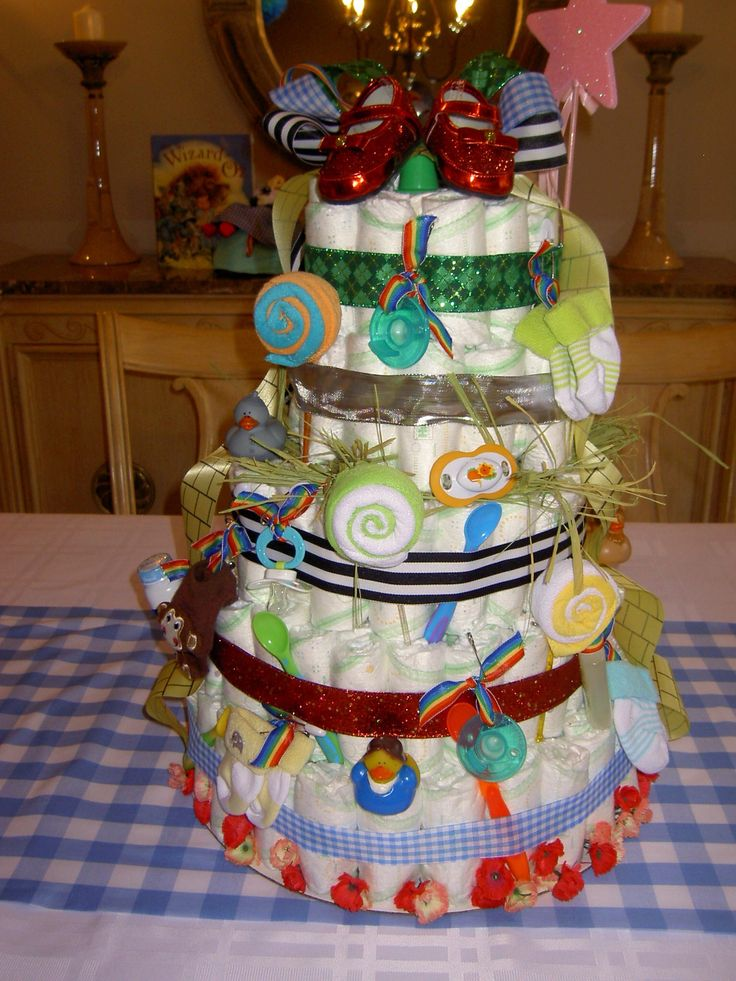 wizard of oz diaper cake baby shower wizard of oz pinterest
