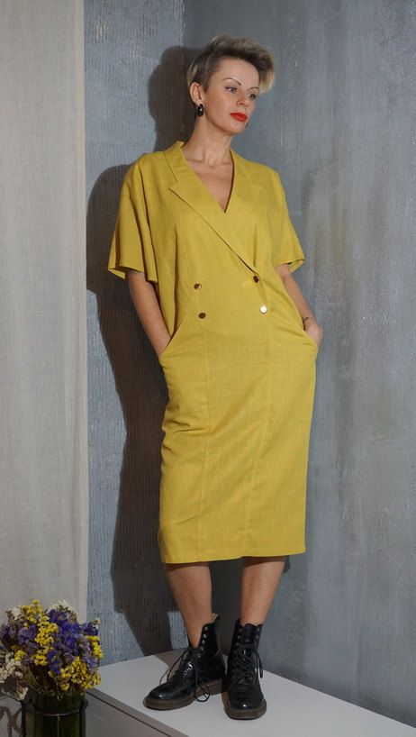 Vintage grunge dress  Model 80's by OzoVintageClothing on Etsy