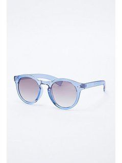Crystal Large Preppy Sunglasses in Blue